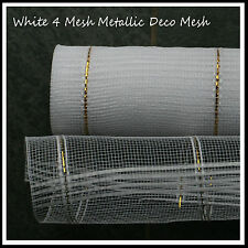 Deco Mesh White 4 Mesh -  21 inches by 10 yards  - UK