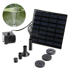 Solar Power Fountain Water Pump Floating Panel Pool Garden Pond Watering LEBB