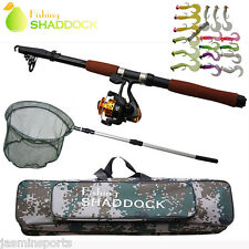 2.4M Fishing Rod and Reel Combo Telescopic Spinning Fishing Rod & Reel Full Set