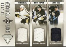 Jordan Staal - James Neal - Simon Despres 2011-12 Panini  Hat Tricks 141/199