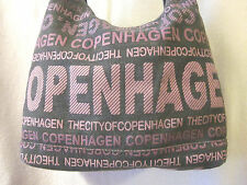 "Robin Ruth Purple Copenhagen Canvas Bag Large Purse 12"" x 13"" x 6"""