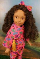 "Global Friends Collection 14"" Vinyl AA Doll Curly Brown Hair with African Outfit"