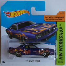 Hot Wheels - ´71 / 1971 Plymouth Hemi Cuda blaumet. mit Flammen Neu/OVP