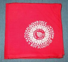 1935 National Boy Scout Jamboree FULL SQUARE Red Youth Neckerchief Jambo Jam NJ