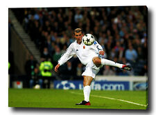 "ZINEDINE ZIDANE 30 ""x20"" ART en toile Imprimé Poster Photo Football Madrid"