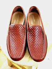 ROCKPORT Men's Great Escape Woven Venetian Loafer Shoes Brown Size 13M