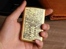 Retro Constantine Engraved Pocket Cigarette Case Metal Brass Tobacco Storage Box