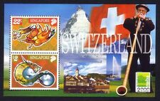 Singapore 2000 Zodiac Year of the Dragon - Switzerland Stamps Exhibition M/S