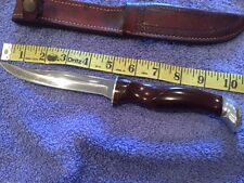 Cutco Hunting Knife 89 with Embossed Leather Sheath VINTAGE
