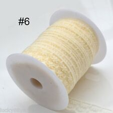 NEW 10yards Beige  lace ribbons sewing accessories decorative free shipping