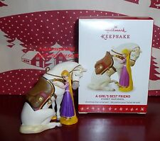 2016 HALLMARK KEEPSAKE ORNAMENT DISNEY RAPUNZEL A GIRL'S BEST FRIEND ~ADORABLE~