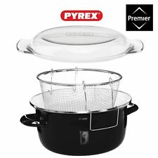 5L Deep Fryer with Thermo Resistant Pyrex Lid (16x33x27cm)