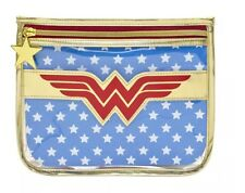 Wonder Woman SOHO Makeup Clutch with Cape NEW- HTF DC Comics