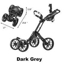 Caddytek Super-Light One-Click Folding 4 wheel Golf Push Cart Aluminum