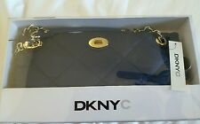 DKNY Quilted Nylon  Clutch Shoulder Bag Sapphire Color New in Box