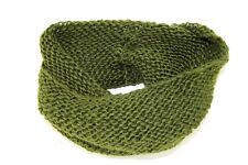 LADIES FAHIONISTA INPIRED GREEN THICK KNIT TURTLE NECK INFINITY SCARF(MS33)