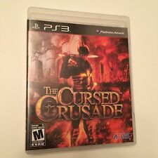 The Cursed Crusade (Sony PS3, 2011) GREAT CONDITION! NO SCRATCHES! CLEAN! ATLUS