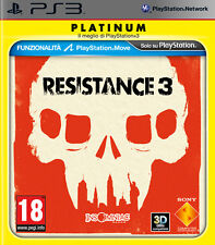 Resistance 3 Platinum PS3 Playstation 3 IT IMPORT SONY COMPUTER ENTERTAINMENT