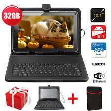 "32GB 10.1"" Inch Android 5.1 Quad Core WiFi Camera HDMI Allwinner Tablet PC Black"