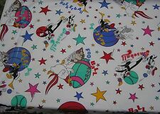 Looney Tune Sports Fabric BTY Bugs Bunny Daffy Taz Basketball Football Baseball