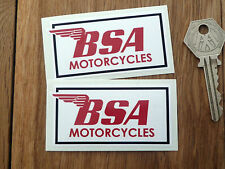 BSA Motorcycles 3in STICKERS Oblong Pair A65 B25 B50 A75 Rocket Gold Star