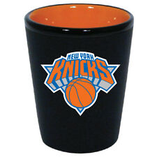 OFFICIAL LICENSED NBA *NEW YORK KNICKS* 1.5 OZ SHOT GLASS TWO-TONE CERAMIC