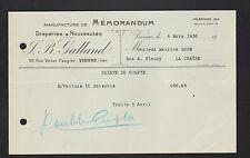 """VIENNE (38) USINE de DRAPERIES & NOUVEAUTES """"J.B. GALLAND"""" en 1936"""