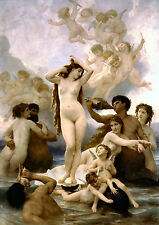 Old Masters reprint (v1f30) The Birth of Venus 1879 by William Bouguereau