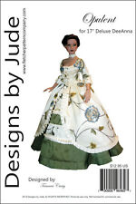 """Opulent Doll Clothes Sewing Pattern 17"""" Athletic Body DeDe Denton Dolls Tonner"""