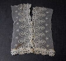 ANTIQUE LACE TULLE HOOK & EYE 2 PIECES OF A BLOUSE OR DRESS FOR REPURPOSE