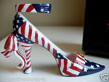 Mini Collectible Shoe J.Strait Design American Flag Election Time Resin New