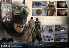 2016 TOY FAIRS HOT TOYS 1/6 DC BATMAN V SUPERMAN MMS372 KNIGHTMARE BATMAN FIGURE