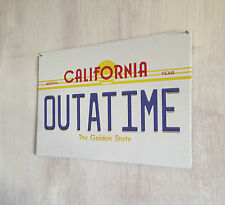 Back to the Future OUTATIME Number plate sign A4 metal plaque decor picture