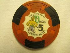 DUNES CASINO $5 3RD EDITION SULTAN LAS VEGAS POKER CHIP