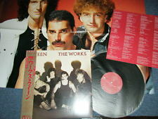 QUEEN Japan 1984 NM LP+Obi+Poster THE WORKS