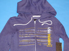 NWT Hurley LSU TIGERS Full Zip Sweatshirt Hoody Jacket Women Sz S Purple