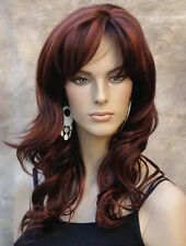 OFF CENTER Skin part WIG  Dark and Red auburn mix Long Wavy JSPP #33/130