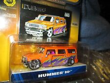 dub city  2003 hummer H2 dub city orange custom   mags   jada 1/64  8+ big