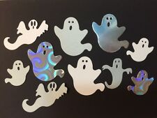 10 Die Cut Ghost Spooks Various Colours Sizzix Halloween 3-7cm cardmaking craft