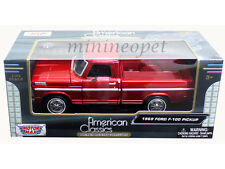 MOTORMAX 79315 1969 69 FORD FORD F-100 PICK UP TRUCK 1/24 RED