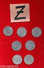 lotto di 10 lire 7 monete ITALIAN coins 1955 1973 1977 1979 1980 1981 1982 vendo