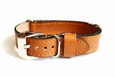 18 mm Brown Military Calf Leather Watch Strap Band Wristwatch