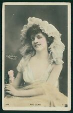 Mac Lean Theater edwardian lady original old 1910s photo postcard