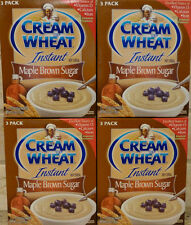 (4) CREAM OF WHEAT INSTANT HOT CEREAL MAPLE BROWN SUGAR FLAVOR W/ IRON