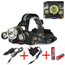 6000Lm 3x Cree XM-L T6 LED Rechargeable Headlamp Headlight Head Torch Light Lamp