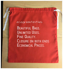 Christmas / Wedding/ Party RED Cloth Bag/ Sack , Size 18 x 20 inches With Ribbon