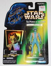 *SIGNED BY GREEDO* STAR WARS THE POWER OF THE FORCE COA # 5839964 TMA PAUL BLAKE