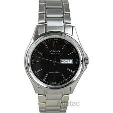 Casio MTP-1239D-1A Men's Quartz Analog Dress Watch Black Dial w/ Day & Date