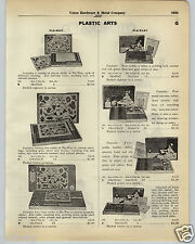1930 PAPER AD Pla Wax Toy La Velle Klay Chemcraft Chemical Sets Magic Show Wand