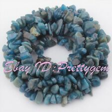 "4-6x6-8MM NATURAL BAROQUE BLUE KYANITE CHIPS GEMSTONE SPACER LOOSE BEADS 34""/LOT"